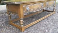 Long Oak Coffee Table by Old Charm
